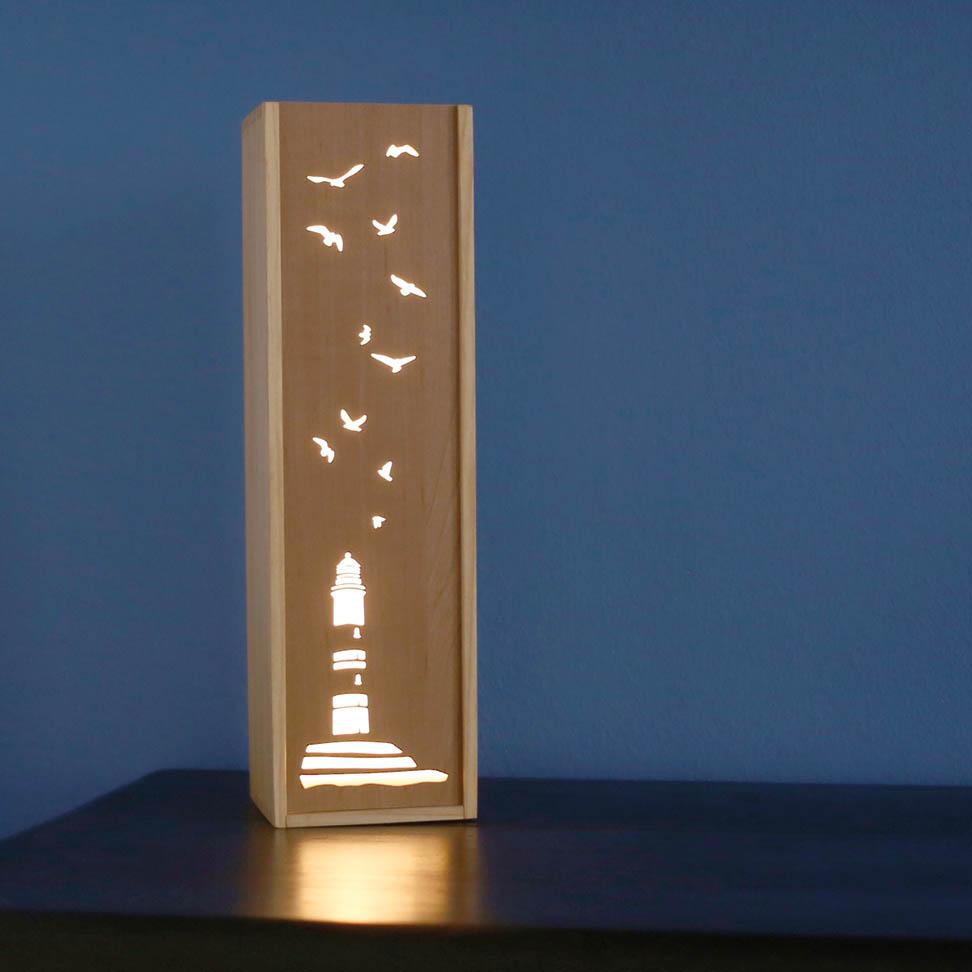 Leuchte Leuchtkasten Design Grafik leuchtturm meer urlaub