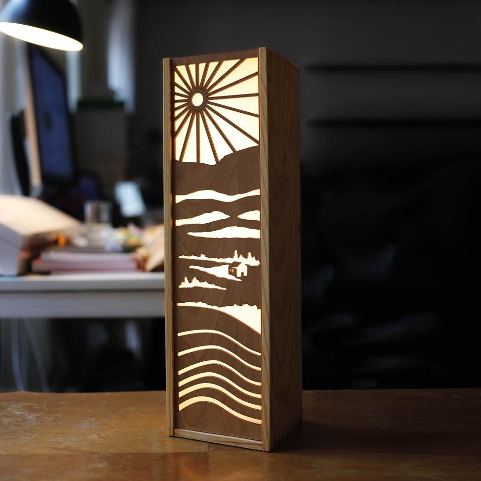 Leuchte Leuchtkasten Design Grafik wein landschaft athmosphaere