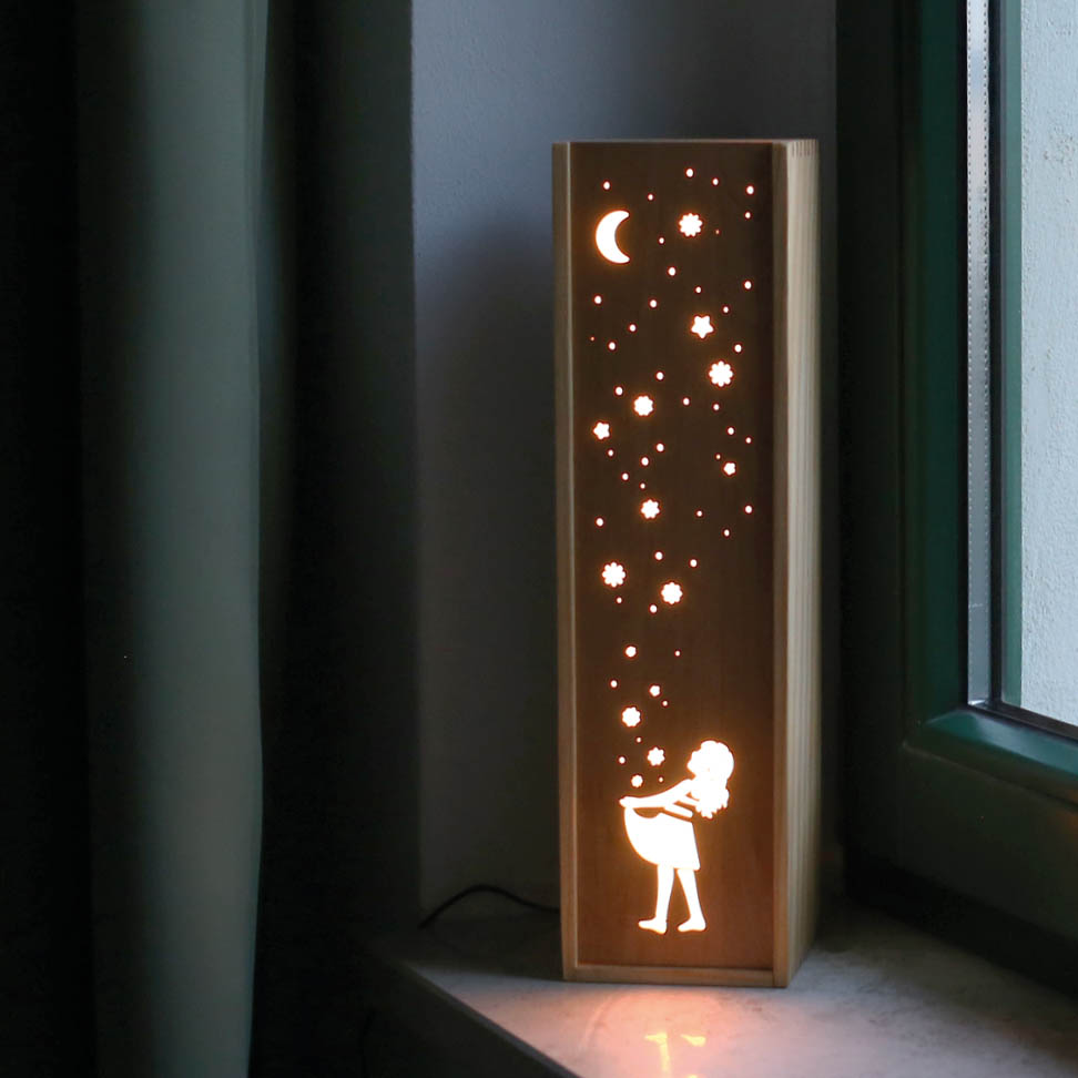 Leuchte Leuchtkasten Design Grafik sterntaler maerchen kinder