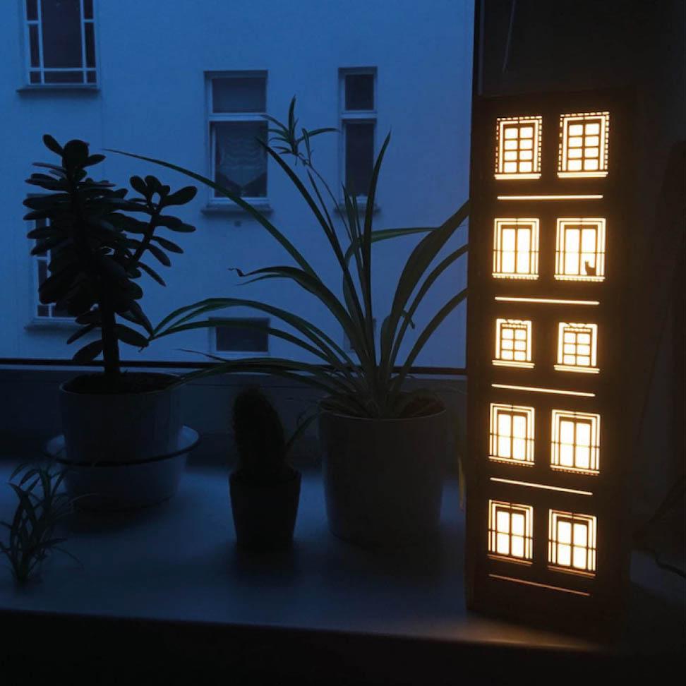 Leuchte Leuchtkasten Design Grafik katze kinder nachtlicht