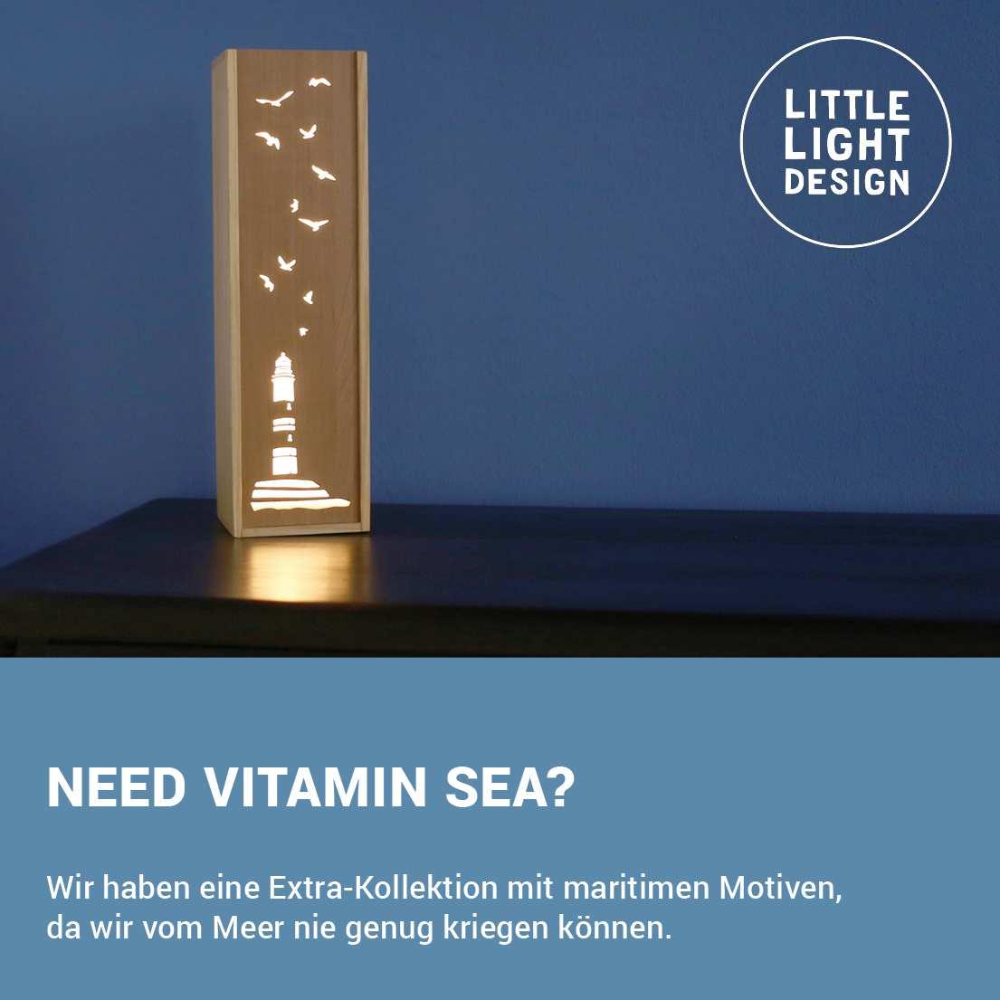 Leuchte Leuchtkasten Design Grafik maritim Leuchtturm